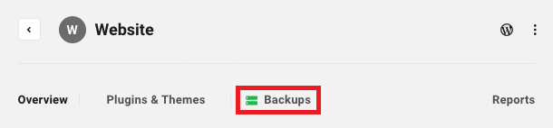 Allows the user to access a site's Backups module.