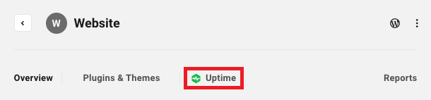 Allows the user to access a site's Uptime module.