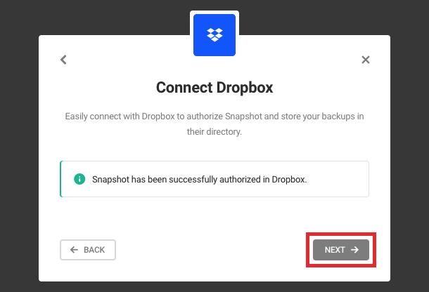connect dropbox (step 4)