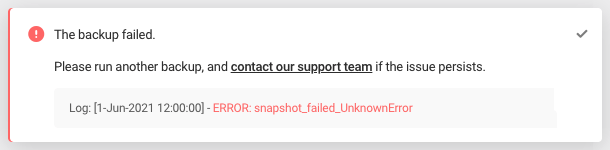 Error: snapshot_failed_UnknownError