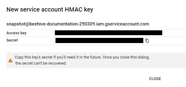 google cloud hmac key