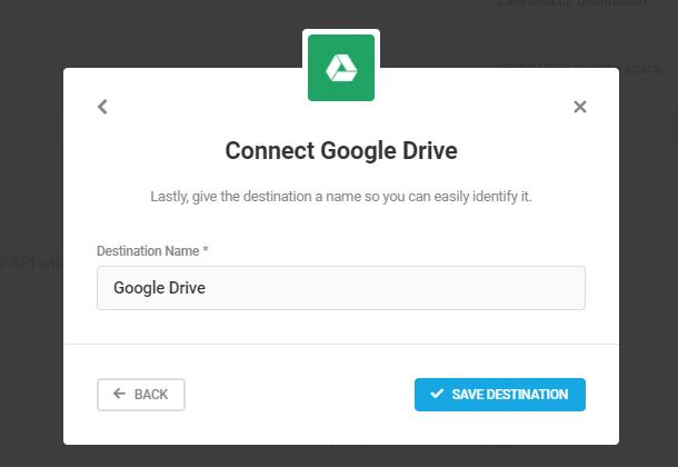 name google drive destination