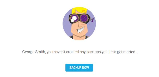No backups yet in Snapshot 4.0