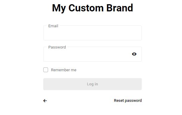 brand name on hub page