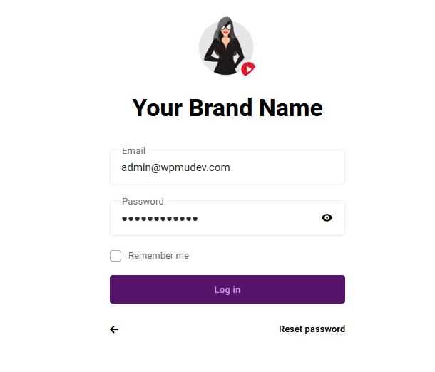 hub client login screen
