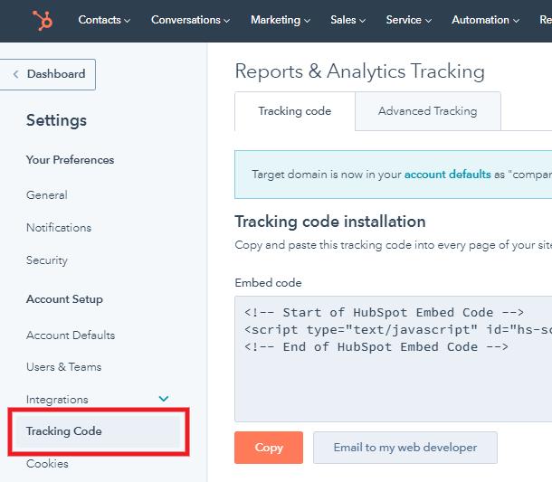 hubspot-chatflow-get-code-settings