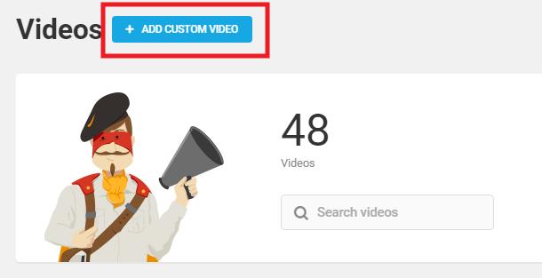 Add custom video in Integrated Video Tutorials