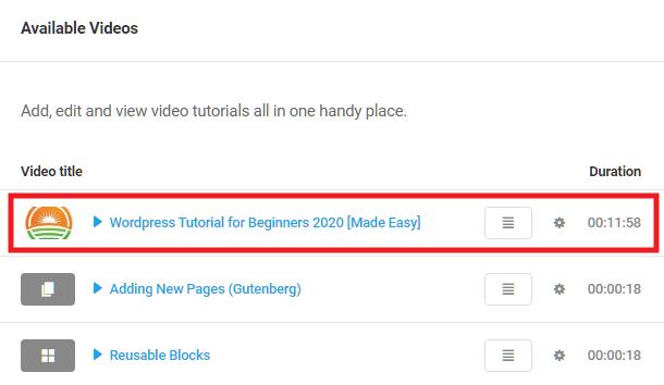 Custom video added in Integrated Video Tutorials