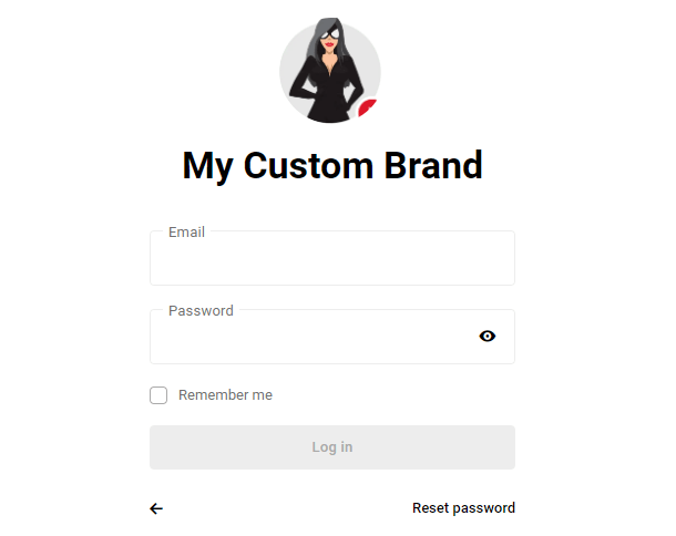 brand logo on hub page