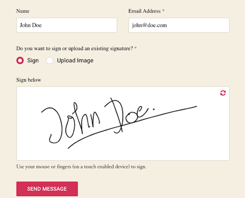 A look at Forminator's E-Signature feature