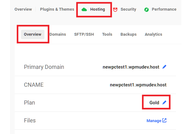 View hosting credit for a WPMU DEV hosted site