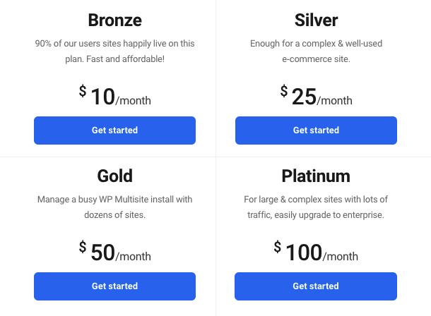 hosting pricing plans
