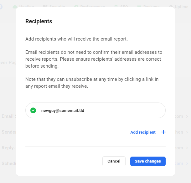 add email report recipients