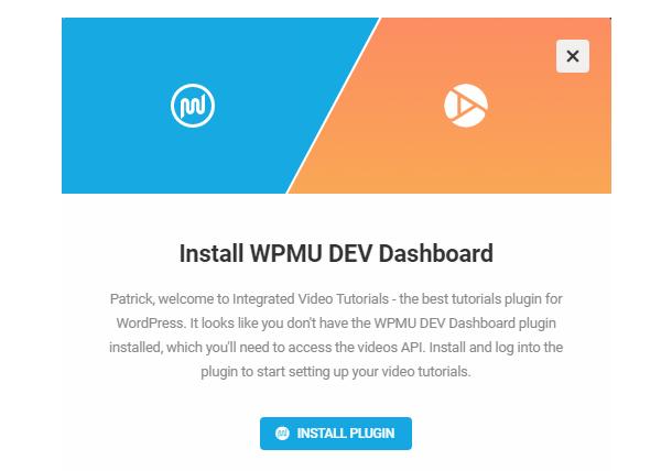 Install WPMU DEV Dashboard to access Integrated Video Tutorials