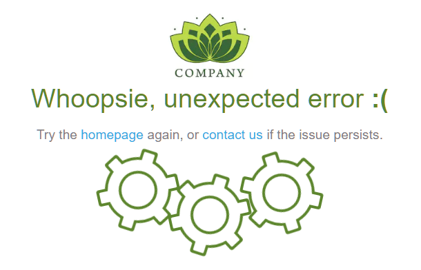 Customized error 500 page example