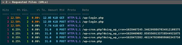 View hosting access log details via SSH