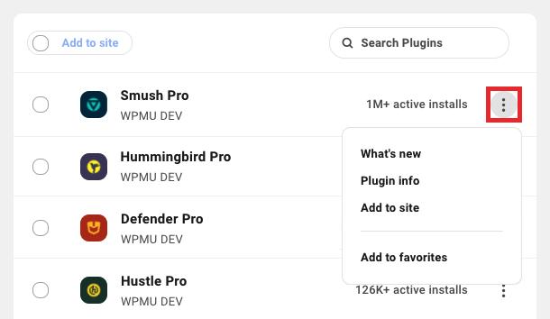 adding plugin options