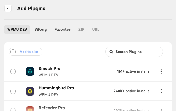 Adding plugins overview