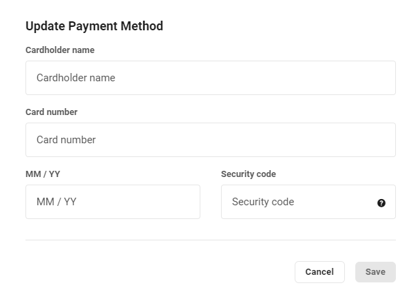Client's payment info in Client Billing