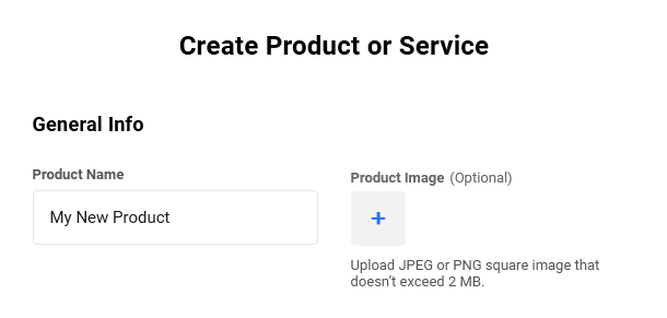 Adding a new product in Client Billing