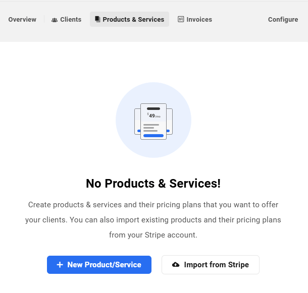 Add products & services in Client Billing