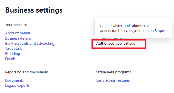 Disconnect Stripe account from Client Billing