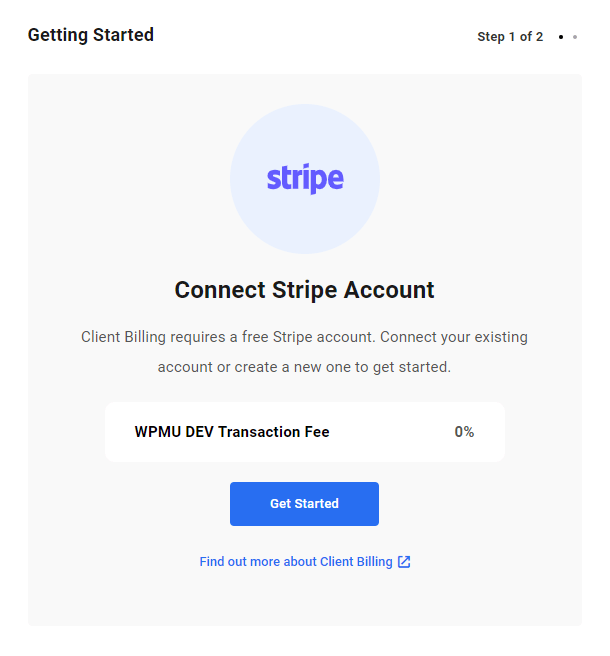 Connect Stripe account to Client Billing